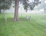 As the cemetery looks presently