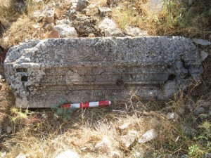 Robbed tomb at Demirli