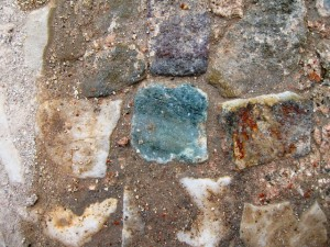Figure 2: Cipollino verde tessera of the mosaic floor of Frigidarium I