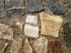 Figure 3: Sham architecture fragments used as tesserae in the mosaic floor of Frigidarium I