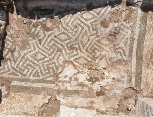 Figure 5: Mosaic floor to the southeast of the Bouleterion on the Upper Agora