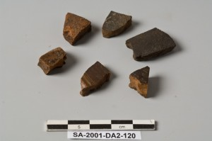 Figure 6: Tesserae made of small pottery fragments