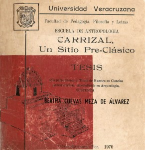Bertha Cuevas' thesis cover (Cuevas 1970; front cover)