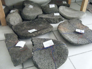 Some of the ground stones that will be analyzed with the operational sequence methodology