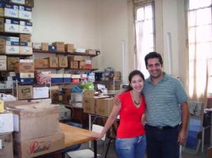 Anahí Macanuso and David Ávila at Universidad Nacional de Rosario (UNR) Archaeology Lab